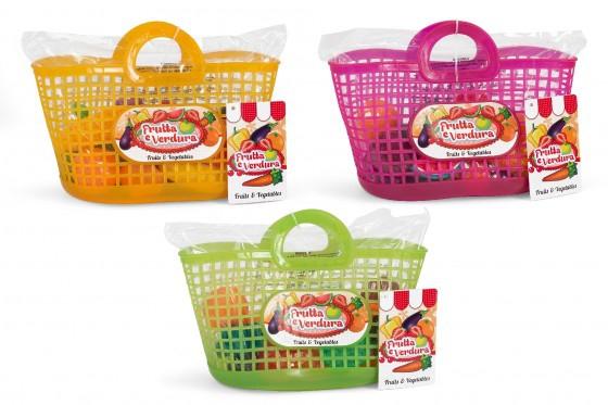 Set alimente fructe si legume plastic in cosulet cumparaturi 0