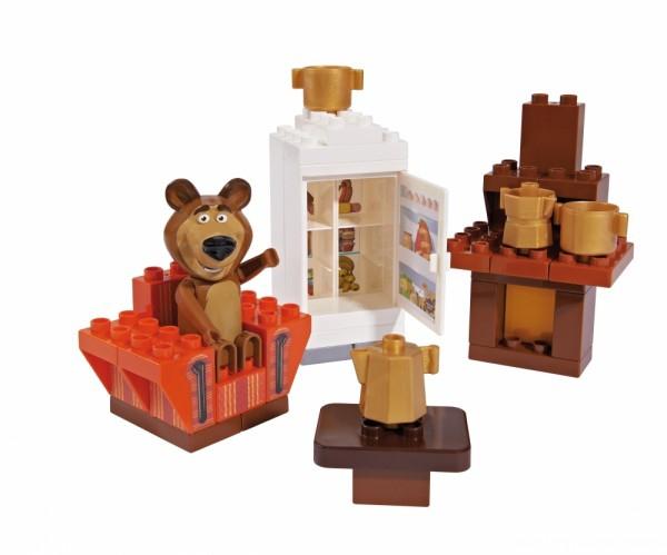 Set constructie cuburi Unico Masha si Ursul Galetusa cuburi Camera Mishei 35 piesE 0