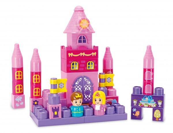 Set constructie piese mari roz Winfun Castel Printese 35 piese si turn cu melodii  0