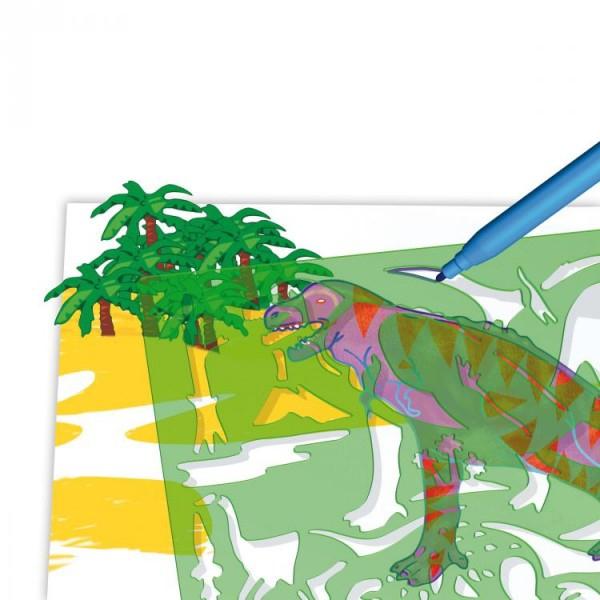 Set creativ pentru copii Forme Dinozauri Quercetti 0