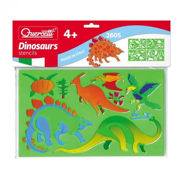 Set creativ pentru copii Sabloane Dinosauri Quercetti 0