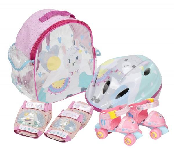 Set Patine cu rotile pentru copii Saica 2310 Alpaca marime reglabila 24-29 cu accesorii protectie si casca 0