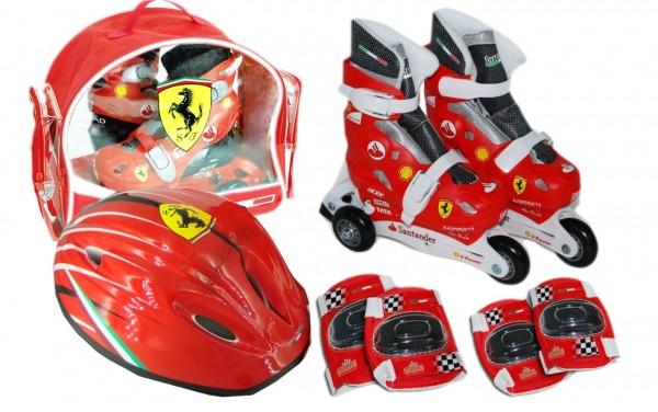 Set role cu accesorii protectie incluse Saica Ferrari marimi reglabile 31-34 0