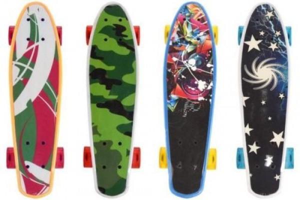 Skateboard cu led pentru copii 56 cm 50 kg Globo   0