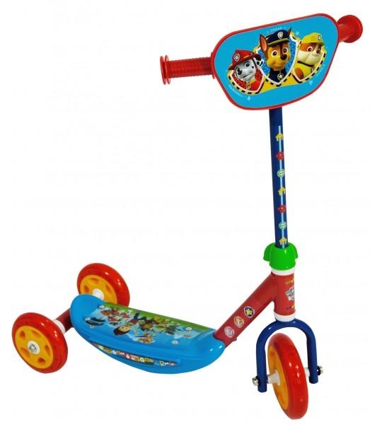 Trotineta pentru copii cu 3 roti Saica Paw Patrol 7368 cu roti din silicon albastru cu rosu 0