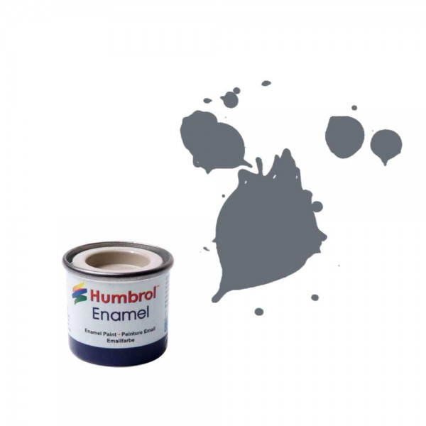 Vopsea modelism Humbrol 0059 Email Numar 5 Dark Admiralty Grey Gloss 14 ml 0