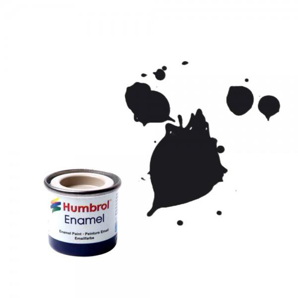Vopsea modelism Humbrol 0237 Email Numar 21 Black Gloss 14 ml 0