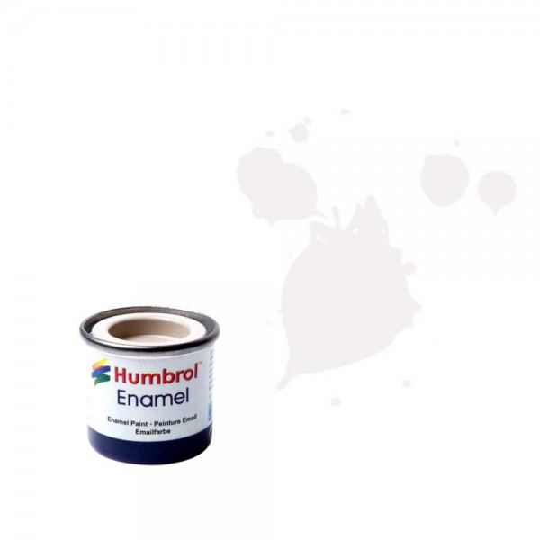 Vopsea modelism Humbrol 0374  Email Numar 34 White Matt 14 ml 0