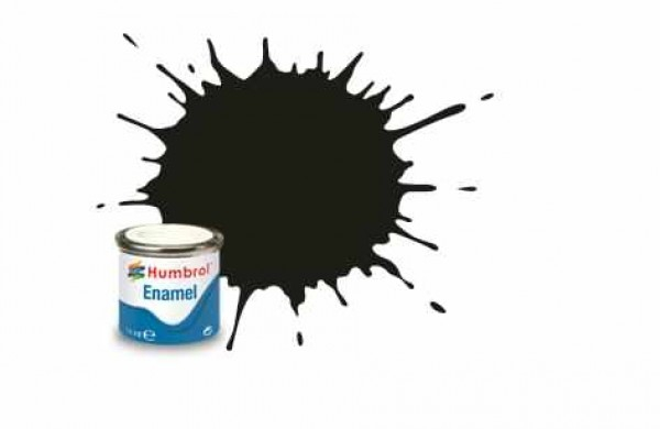 Vopsea modelism Humbrol 1777 Email Numar 163 Dark Green Satin 14 ml 0