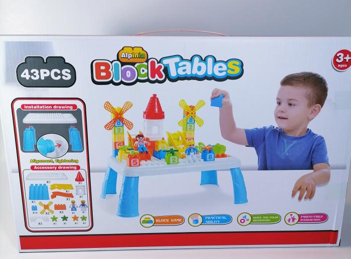 Masuta mica lego pentru copii, multicolor, 43piese 1