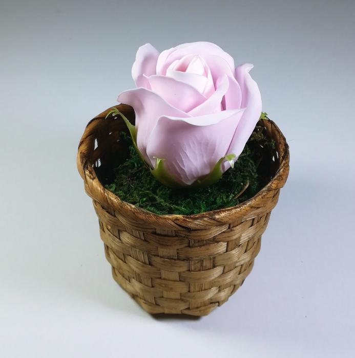 Aranjament Flori Sapun Parfumate in cosulet, Roz 0