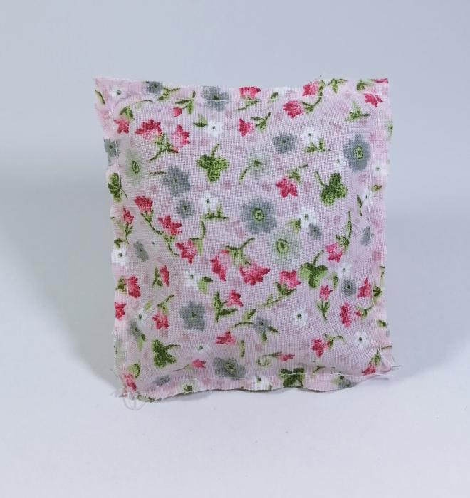 Pernuta florala umplut cu flori de lavanda, Crem, 7x8cm 0