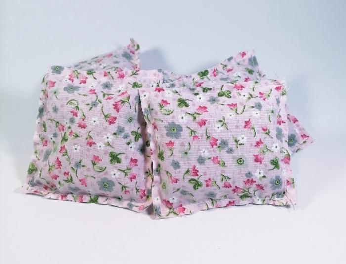 Pernuta florala umplut cu flori de lavanda, Crem, 7x8cm 1