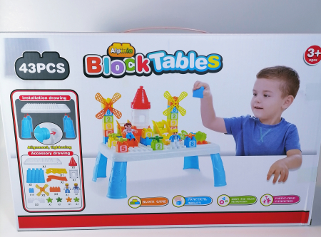 Masuta mica lego pentru copii, multicolor, 43piese1
