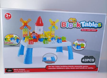 Masuta mica lego pentru copii, multicolor, 43piese0