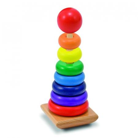 Piramida curcubeu lemn stivuire Rainbow Stacker [0]