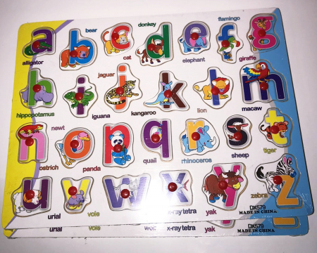Tabla Alfabetul animalelor in limba romana, Plansa3