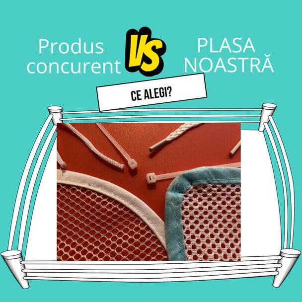 Plasa de siguranta Empria versus produs concurent