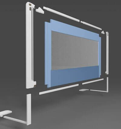 Modul de asamblare a elementelor barierei de pat