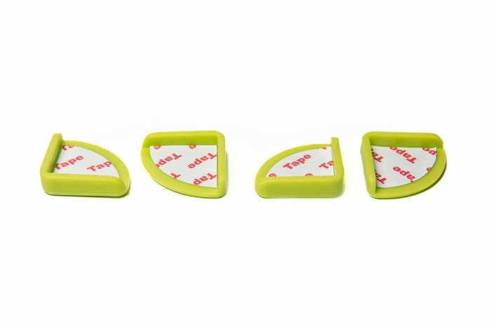 Set 4 bucati aparatoare colturi verde, 3.0x3.0x0.8 cm_Buy4Baby 0