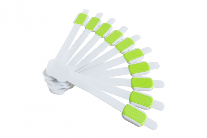 Set protectii flexibile si ajustabile pentru usi si sertare verde, 23 cm_Buy4Baby 0