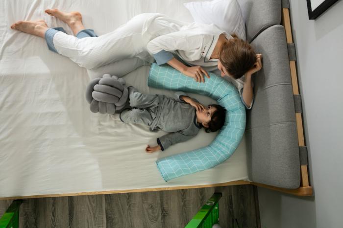 Aparatoare pat copii 180 cm - spuma cu memorie 4