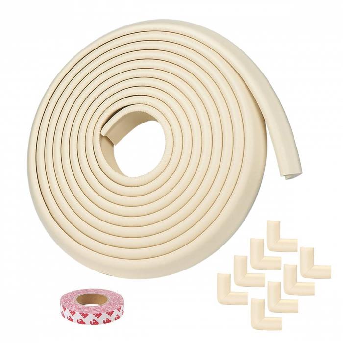 Banda protectie subtire extra lunga 5 m cu 8 coltare incluse 2.3x0.9x500 cm - Diverse culori 0