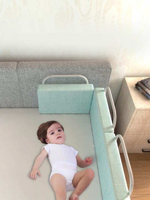 RESIGILATA - Mini-Bumper protectie pat,  50(L)*28(H) cm, Diverse culori 4