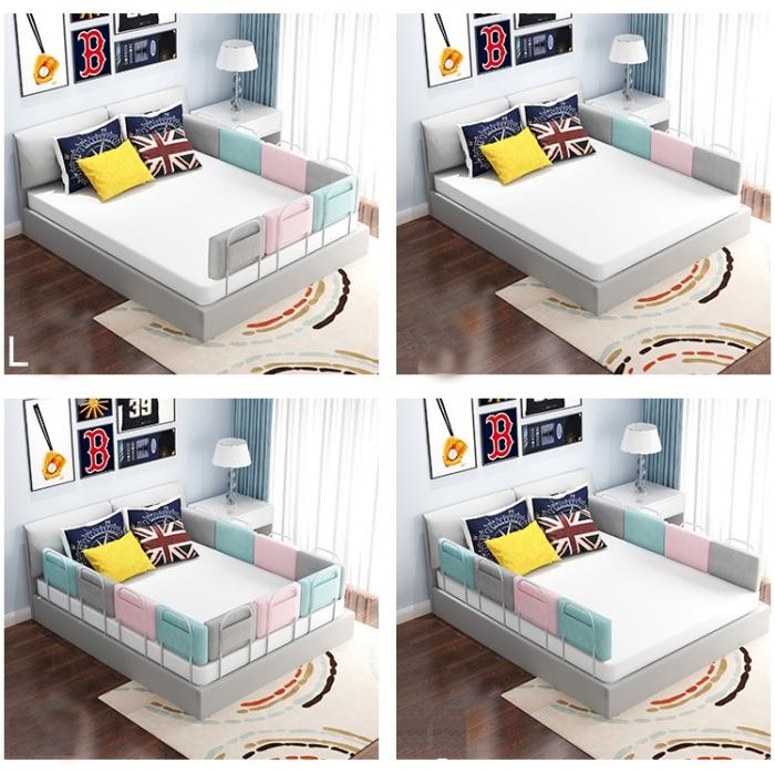 RESIGILATA - Mini-Bumper protectie pat,  50(L)*28(H) cm, Diverse culori 3