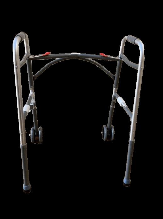Cadru de mers XXL, pliabil, cu roti, ultra rezistent, ultra usor, ajustabil, din aluminiu [8]