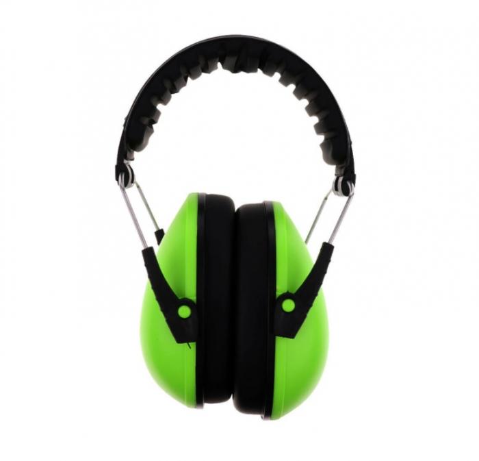 Casti de protectie auditiva pentru copii Peltor Kid, verde neon [1]