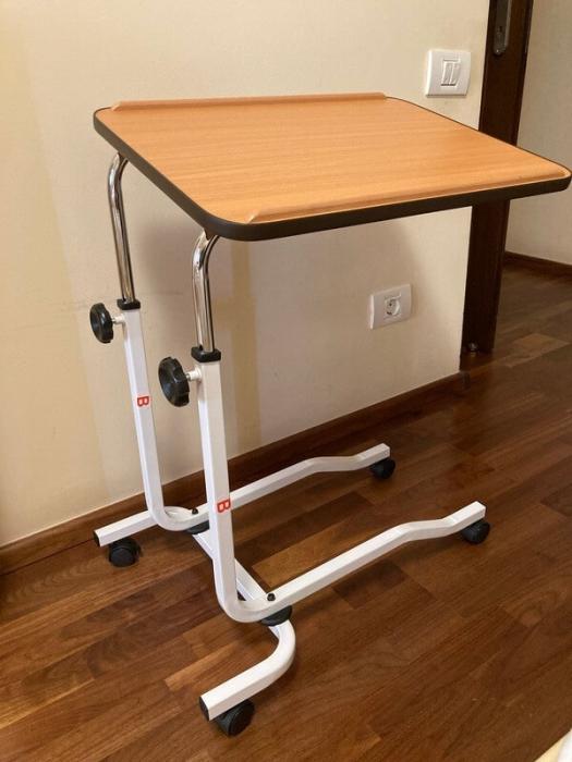 Masa pentru servit la pat, multifunctionala, reglabila, cu roti, 54 x 40 cm [2]