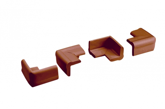Set portocaliu 4 bucati mamut protectii colturi mobilier, 4x1.3x7 cm_Buy4Baby 0