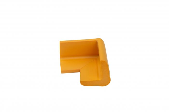 Set portocaliu 4 bucati mamut protectii colturi mobilier, 4x1.3x7 cm_Buy4Baby 1