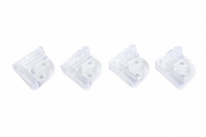 Set 4 coltare silicon transparent, 4.2x1.9x0.8 cm_Buy4Baby [0]