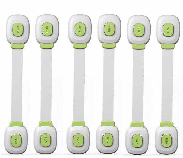Set 6 sigurante flexibile cu incuietoare dubla pentru usi si sertare, Diverse culori [0]