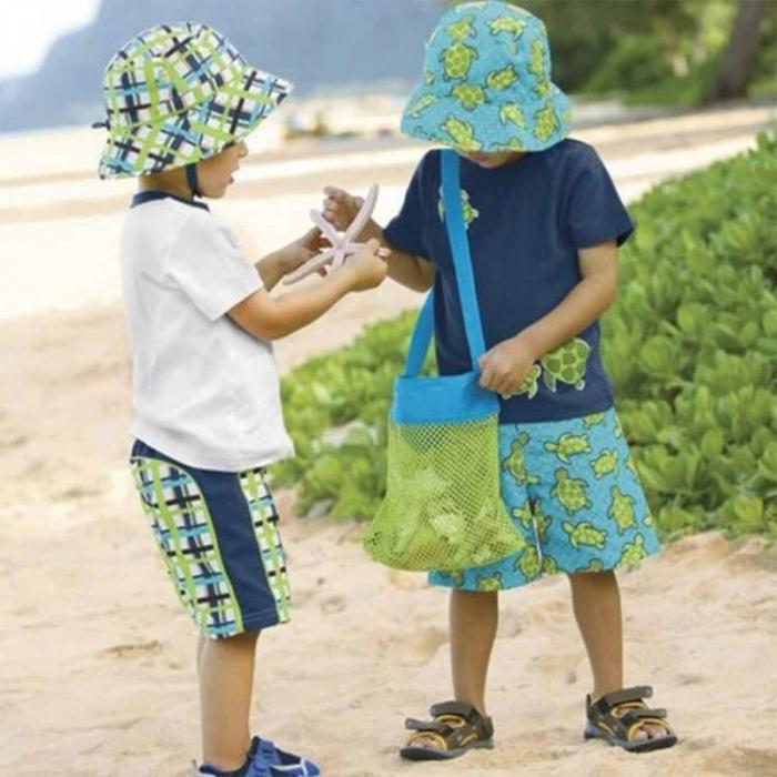 Set doua genti de plaja, din plasa, pentru parinte si copil [1]