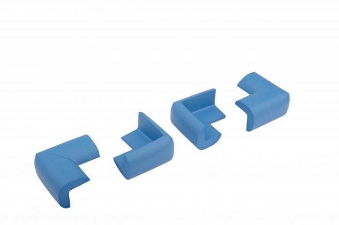 Set 4 bucati groase protectii colturi mobilier, 3.5x1.2x5.5 cm imagine