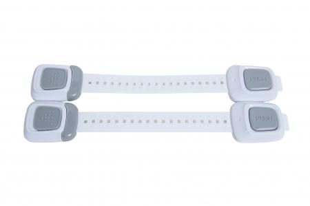 SET 4 sigurante flexibile cu incuietoare dubla pentru usi si sertare, 25 cm - Diverse culori3