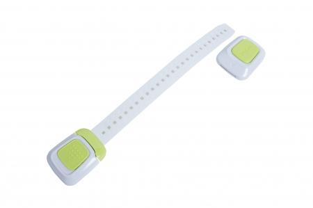 Set 4 sigurante flexibile cu incuietoare dubla pentru usi si sertare, 25 cm, diverse culori2