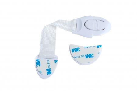 SET 10 sigurante flexibile textile pentru usi si sertare alb, 21 cm1