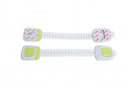 Set 4 sigurante flexibile cu incuietoare dubla pentru usi si sertare, 25 cm, diverse culori1