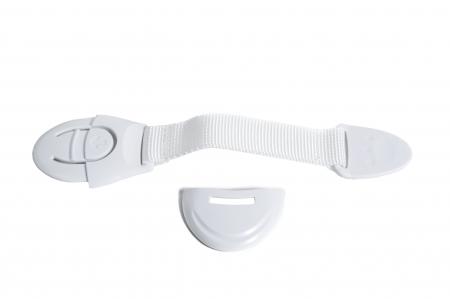 SET 10 sigurante flexibile textile pentru usi si sertare alb, 21 cm2