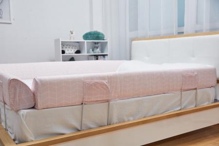 Aparatoare laterala pat 150 cm - bumper flexibil0