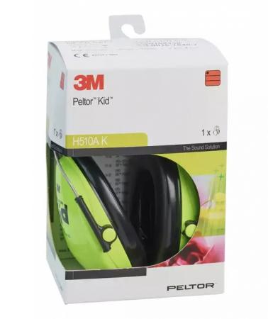 Casti de protectie auditiva pentru copii Peltor Kid, verde neon [2]