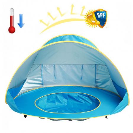 Cort de plaja cu protectie UV pentru bebelusi, 117x79x70 cm [1]