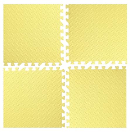 Covoras moale puzzle 4 bucati extra groase, 60*60*2.5 cm, Diverse culori [4]