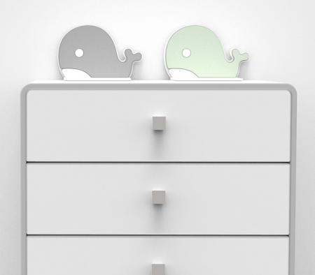 Element asigurare impotriva daramarii mobilierului, 10.5x7x7 cm, Gri, Diverse culori [2]