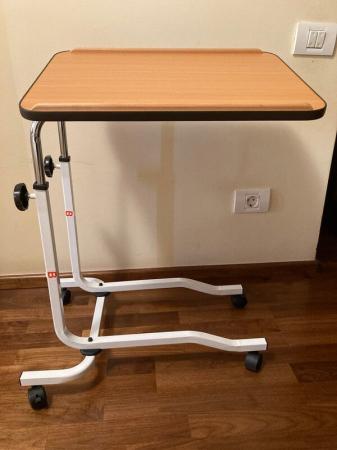 Masa pentru servit la pat, multifunctionala, reglabila, cu roti, 54 x 40 cm [3]