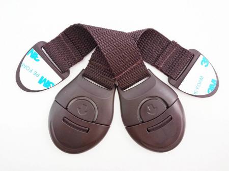 Set 10 sigurante flexibile textile pentru usi si sertare, 20 cm, Wenge2